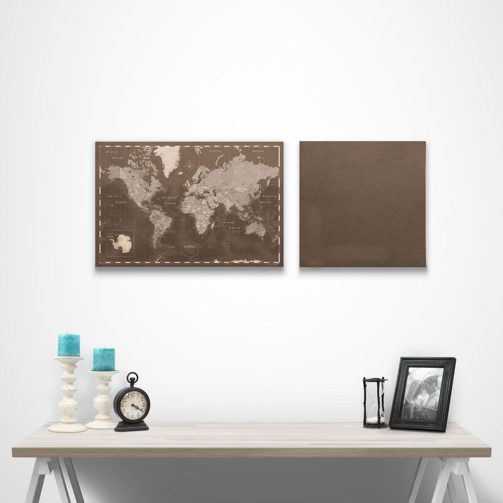 Map Complement Pin Board - Deep Espresso