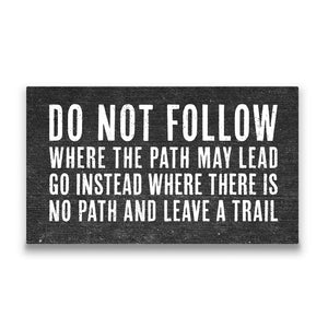 Do Not Follow Travel quote Canvas Art Thumbnail