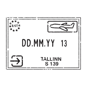 Passport Stamp Decal - Estonia