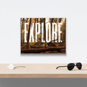 Explore Canvas Art over table with flower and sunglasses