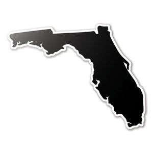 Black Florida State Vinyl Silhouette Car Decal