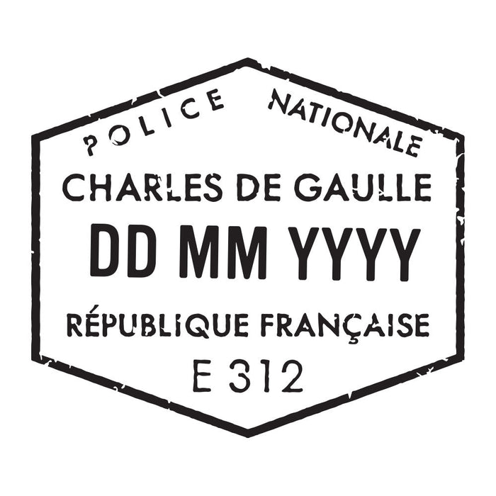 Passport Stamp Decal - France