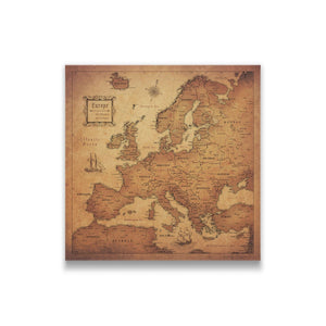 Golden Aged Europe Pin Board Thumbnail