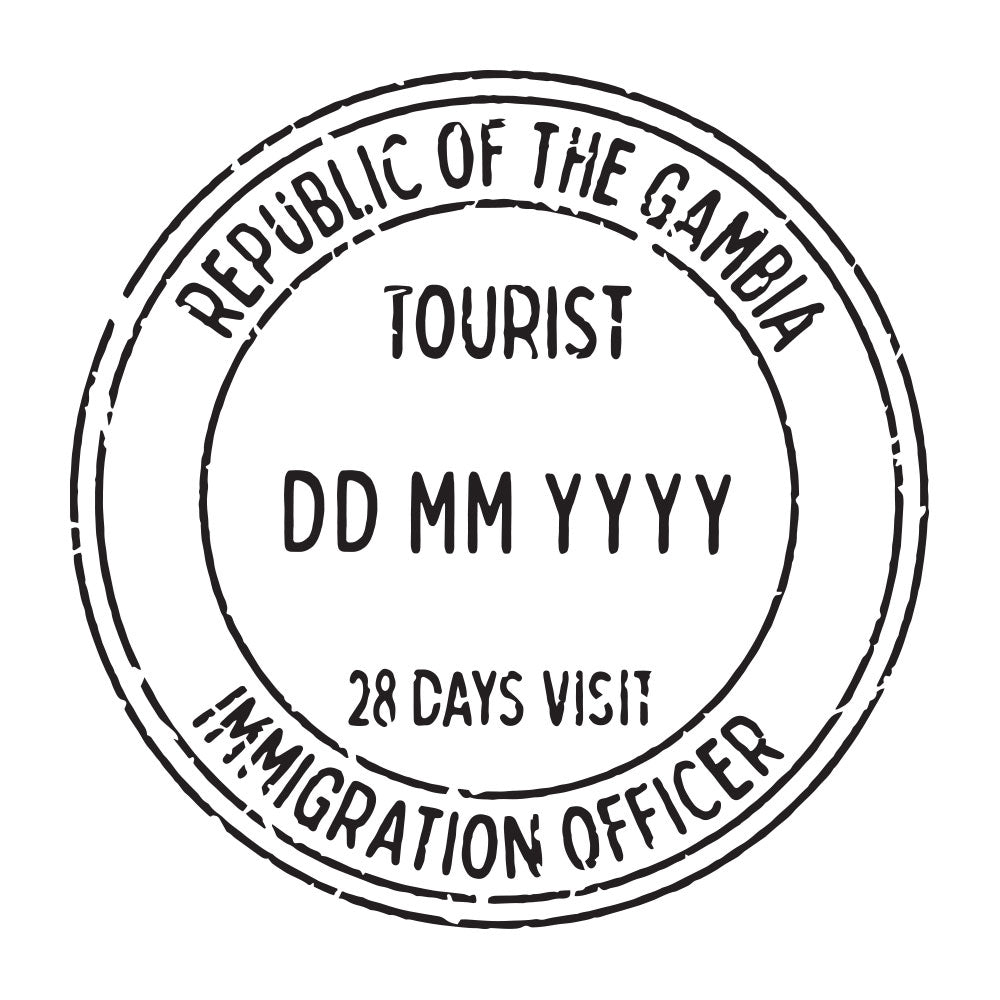 Passport Stamp Decal - Gambia