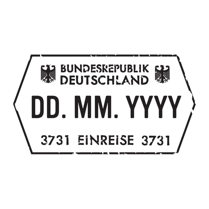 Passport Stamp Decal - Germany