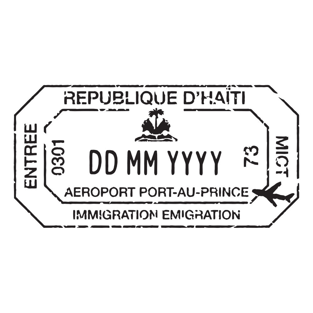 Passport Stamp Decal - Haiti