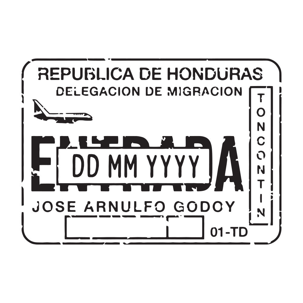 Passport Stamp Decal - Honduras
