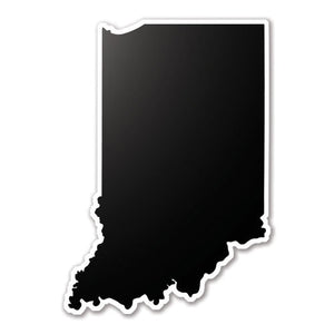 Black Indiana State Vinyl Silhouette Car Decal