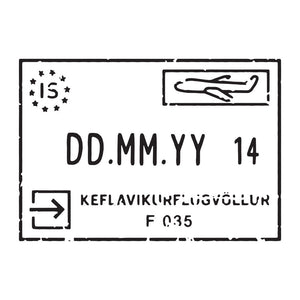 Passport Stamp Decal - Iceland