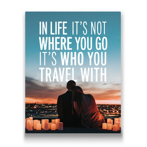 In life it's not where you go Travel quote Canvas Art Thumbnail