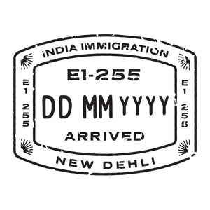 Passport Stamp Decal - India