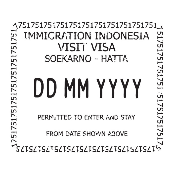 Passport Stamp Decal - Indonesia