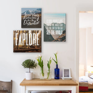 Oh The Places You'll Go - Canvas Wall Art