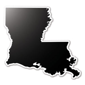 Black Louisiana State Vinyl Silhouette Car Decal
