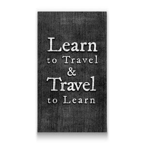 Learn to travel Travel quote Canvas Art Thumbnail