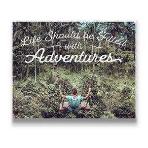 Life should be filled with adventure Travel quote Canvas Art Thumbnail