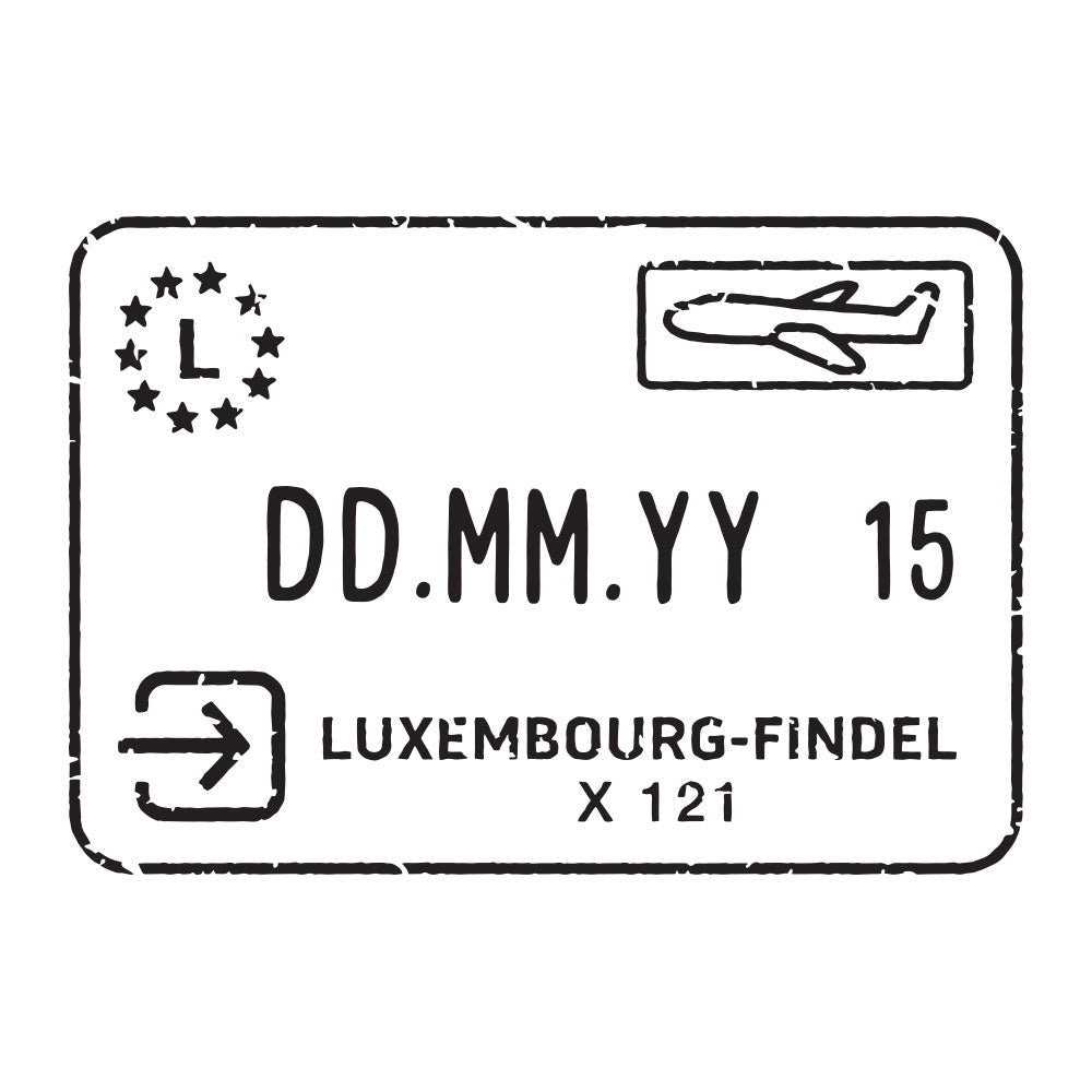 Passport Stamp Decal - Luxembourg