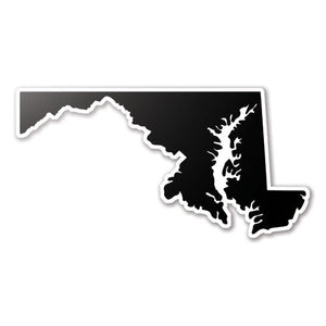 Black Maryland State Vinyl Silhouette Car Decal