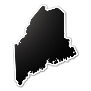 Black Maine State Vinyl Silhouette Car Decal