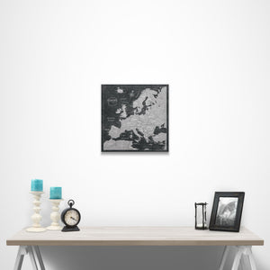 Modern Slate Europe Pin Board over a table