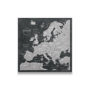 Modern Slate Europe Pin Board Thumbnail