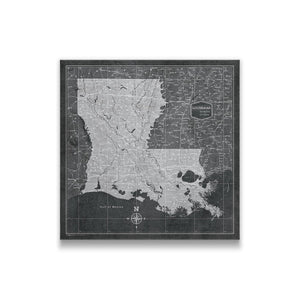 Best selling pin board travel maps conquest maps conquest maps llc louisiana state map pin board with pushpins gumiabroncs Image collections