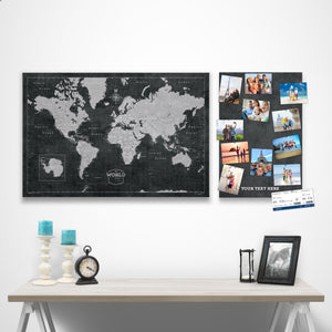 Modern Slate Complement Pin Board