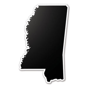 Black Mississippi State Vinyl Silhouette Car Decal