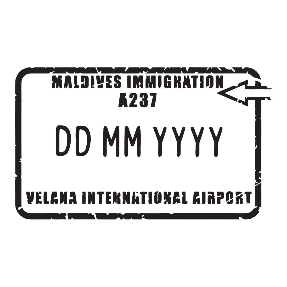Passport Stamp Decal - Maldives