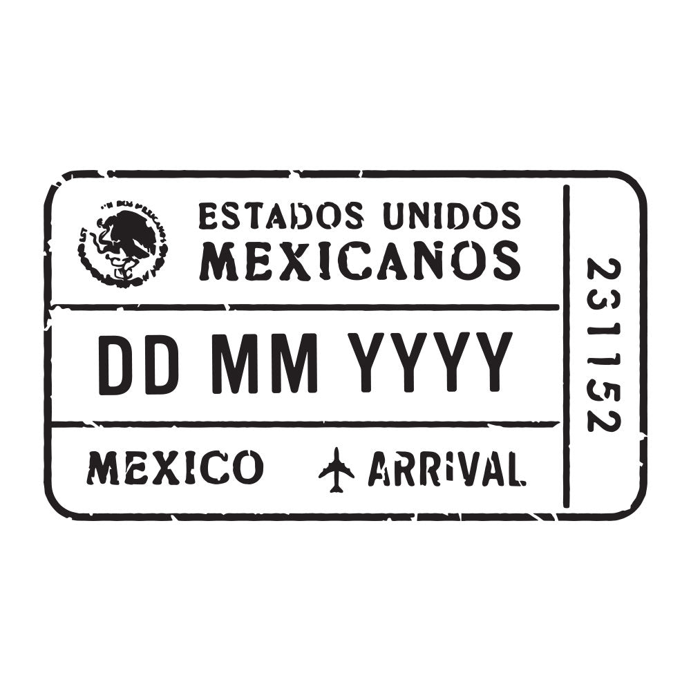 Passport Stamp Decal - Mexico