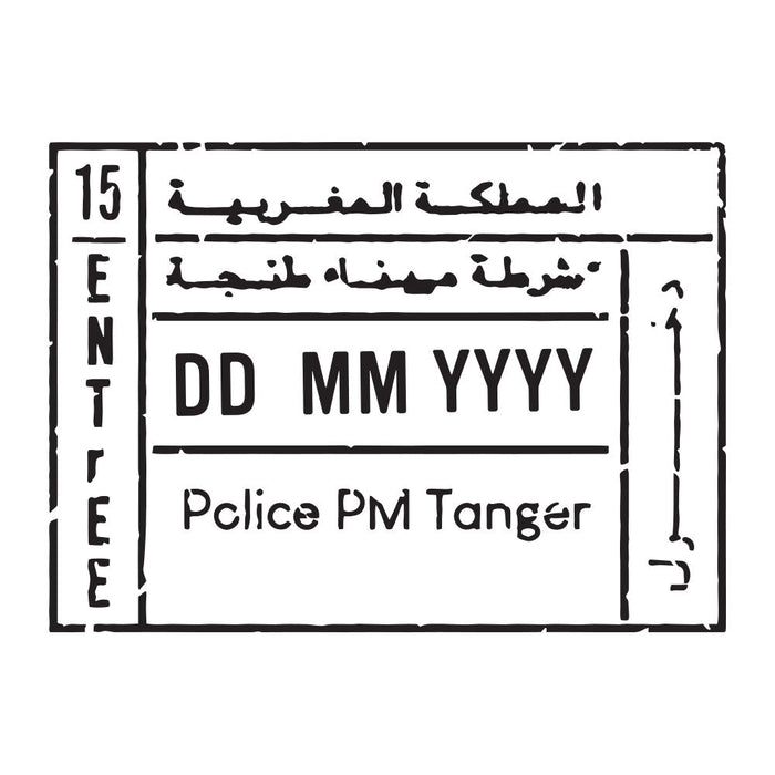 Passport Stamp Decal - Morocco