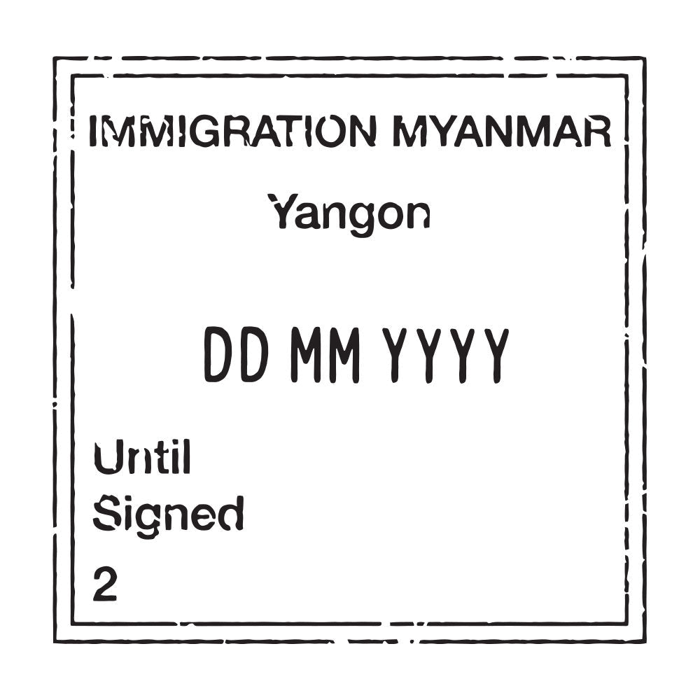 Passport Stamp Decal - Myanmar (formerly Burma)