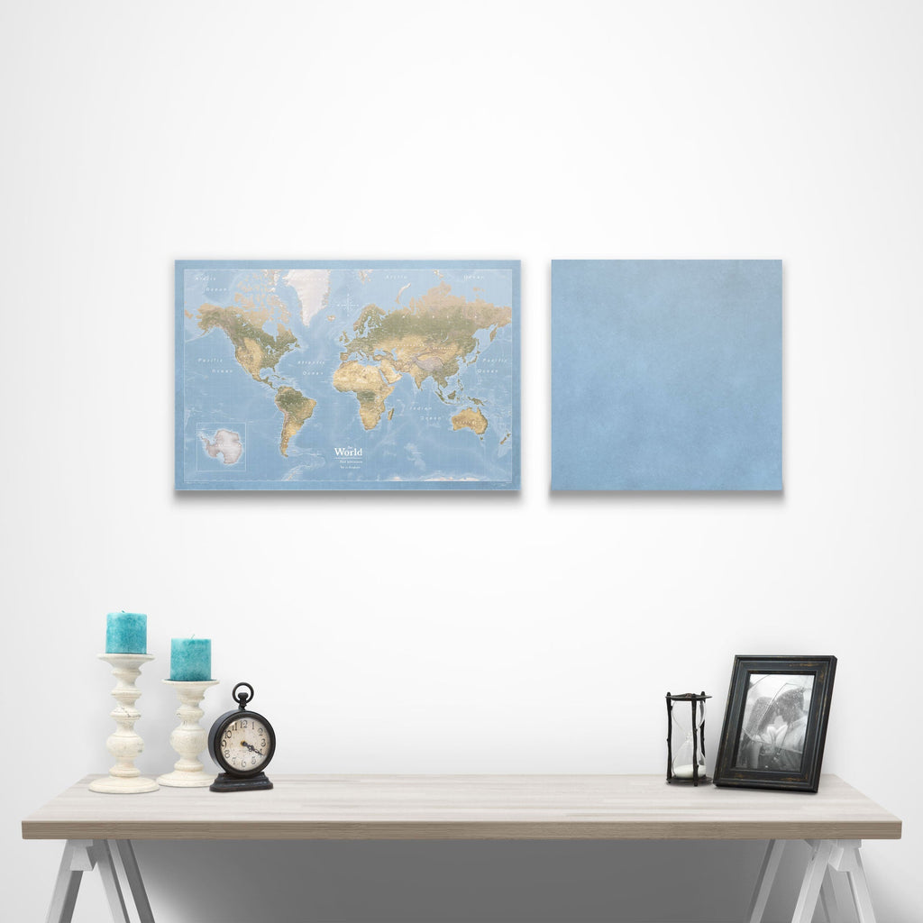 Map Complement Pin Board - Natural Earth