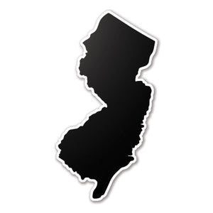Black New Jersey State Vinyl Silhouette Car Decal