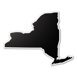 Black New York State Vinyl Silhouette Car Decal