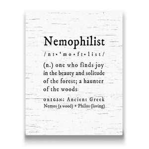 nemophilist definition Travel quote Canvas Art Thumbnail