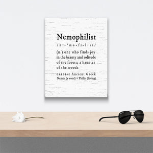 nemophilist definition Canvas Art over table with flower and sunglasses