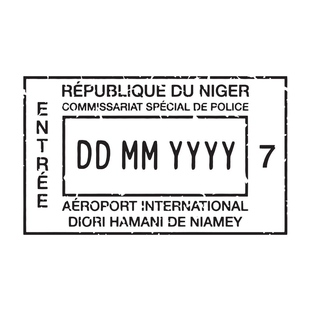 Passport Stamp Decal - Niger