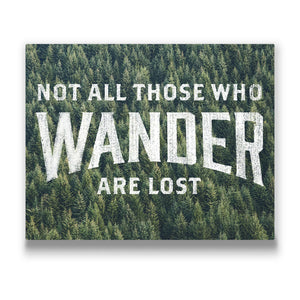 Not all those who wander are lost Travel quote Canvas Art Thumbnail