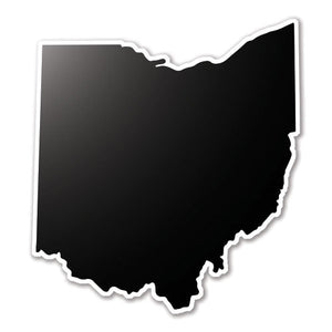 Black Ohio State Vinyl Silhouette Car Decal