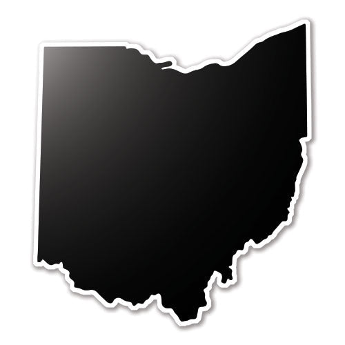 State Silhouette Decal - Black