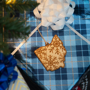 State Snowflake - Wooden Christmas Ornament