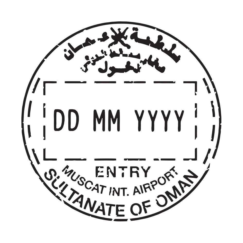 Passport Stamp Decal - Oman