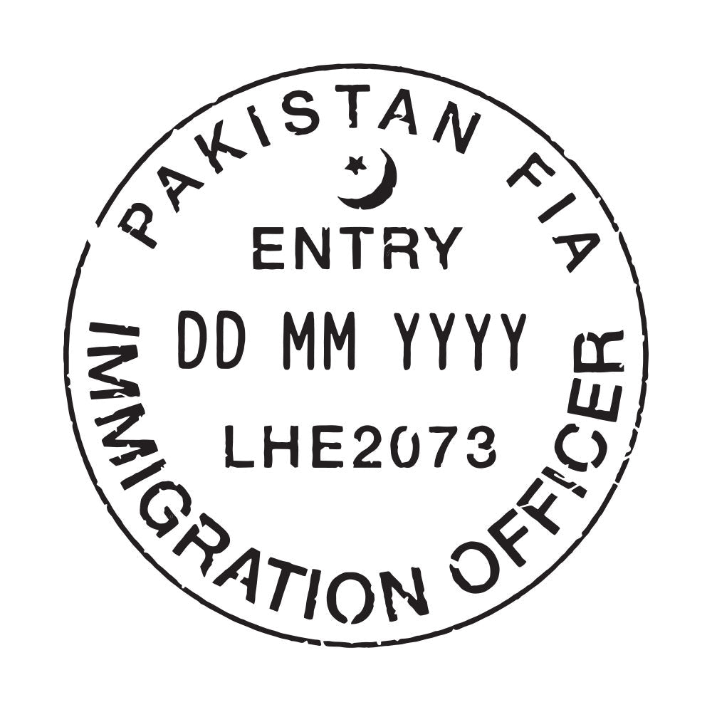 Passport Stamp Decal - Pakistan
