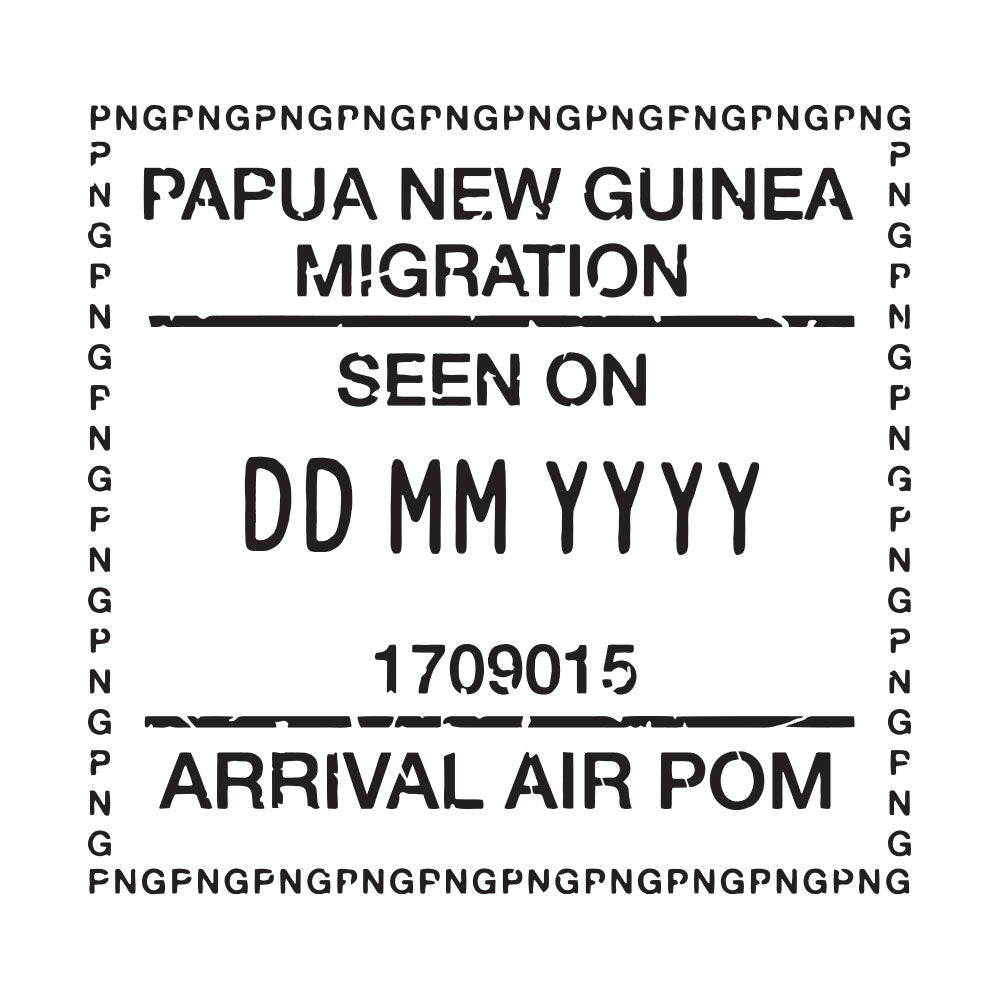 Passport Stamp Decal - Papua New Guinea