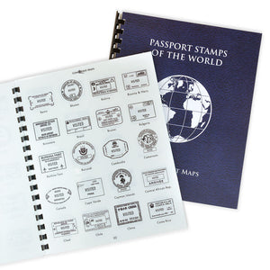 Passport Stamp Sticker Book (Personalizable & Includes all countries!)