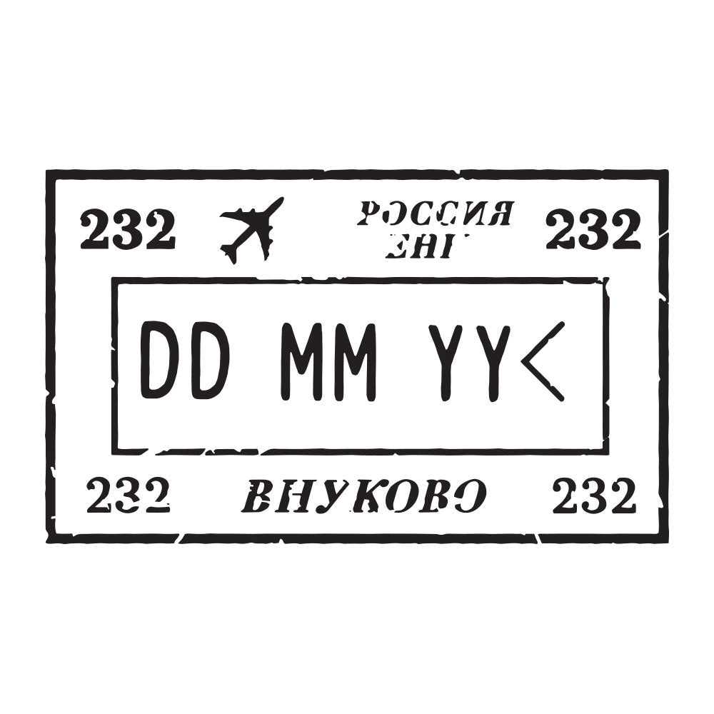 Passport Stamp Decal - Russia