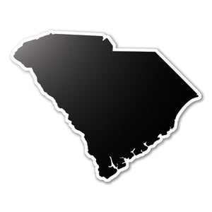 Black South Carolina State Vinyl Silhouette Car Decal
