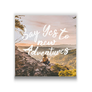 Say yes to new adventures Travel quote Canvas Art Thumbnail