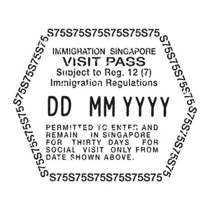 Passport Stamp Decal - Singapore